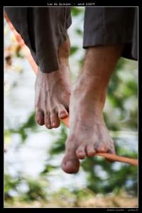Slacklining foot