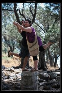 Les statues grèques :p (ma chérie et moi)